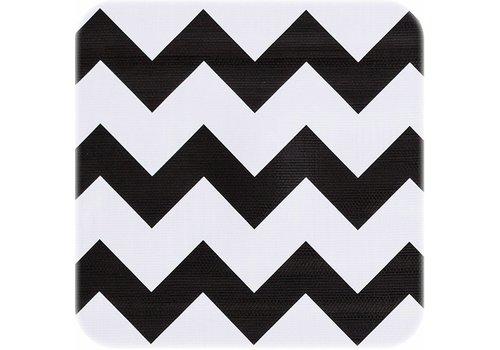 MixMamas Tafelzeil Zigzag - Rol - 120 cm x 11 m - Zwart