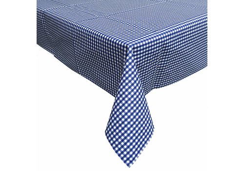 MixMamas Tafelkleed Gecoat Ruitje - 140 x 200 cm - Donkerblauw