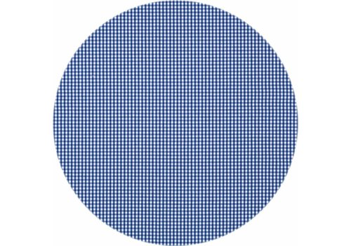 MixMamas Rond Tafelkleed Gecoat - Ø 140 cm - Ruitje - Donkerblauw