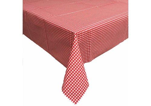 MixMamas Tafelkleed Gecoat Ruitje - 140 x 200 cm - Rood