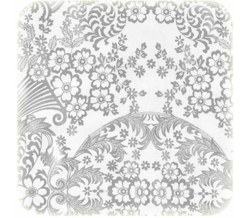 Mexicaans Tafelzeil Paraïso / Barok - 120 x 250 cm - Zilver