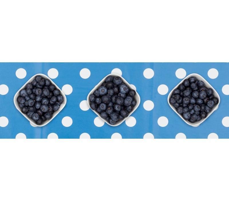 Tafelzeil Grote Stip - Rol - 140 cm x 20 m - Blauw/Wit