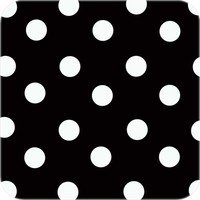 Tafelzeil Grote Stip - Rol - 140 cm x 20 m - Zwart/Wit