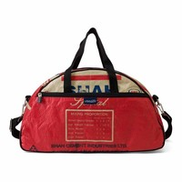 Used2b Gym - Schoudertas Upcycled - Cement - 45 x 26 cm - Rood