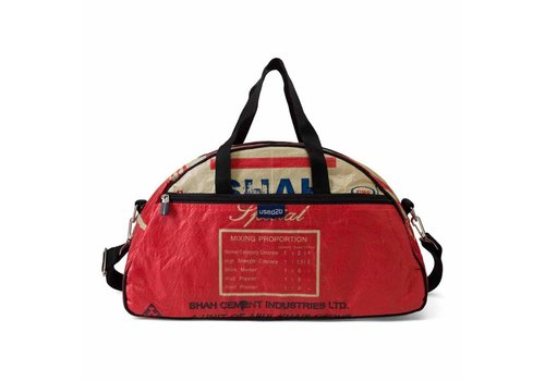 Used2b Used2b Gym - Upcycled - Cement - 45 x 26 cm - 23 L - Rood
