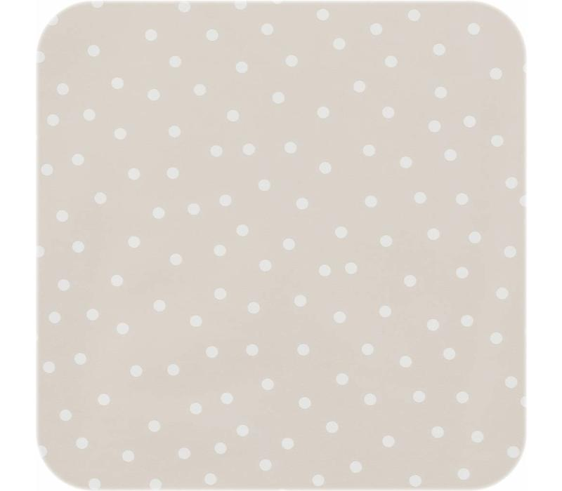 Tafelzeil Tafelloper - Stipjes - Rol - 70 x 500 cm - Beige/Wit