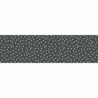 Tafelzeil Tafelloper - Stipjes - Rol - 70 x 500 cm - Grijs/Wit