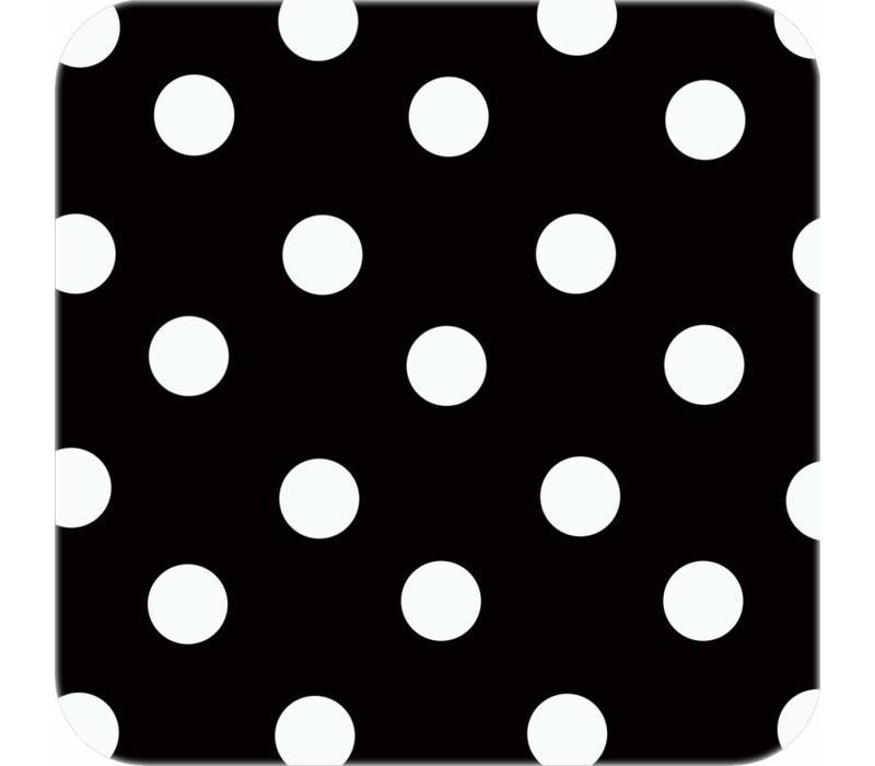 Tafelzeil Ovaal - 140 x 300 cm - Grote Stip- Zwart/Wit