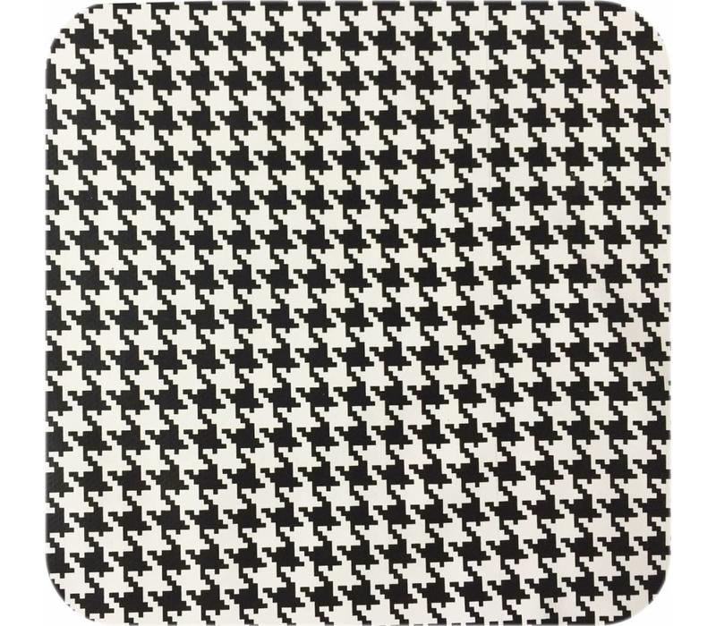 Mexicaans Tafelzeil Pied de Poule - Rol - 120 cm x 11 m - Zwart