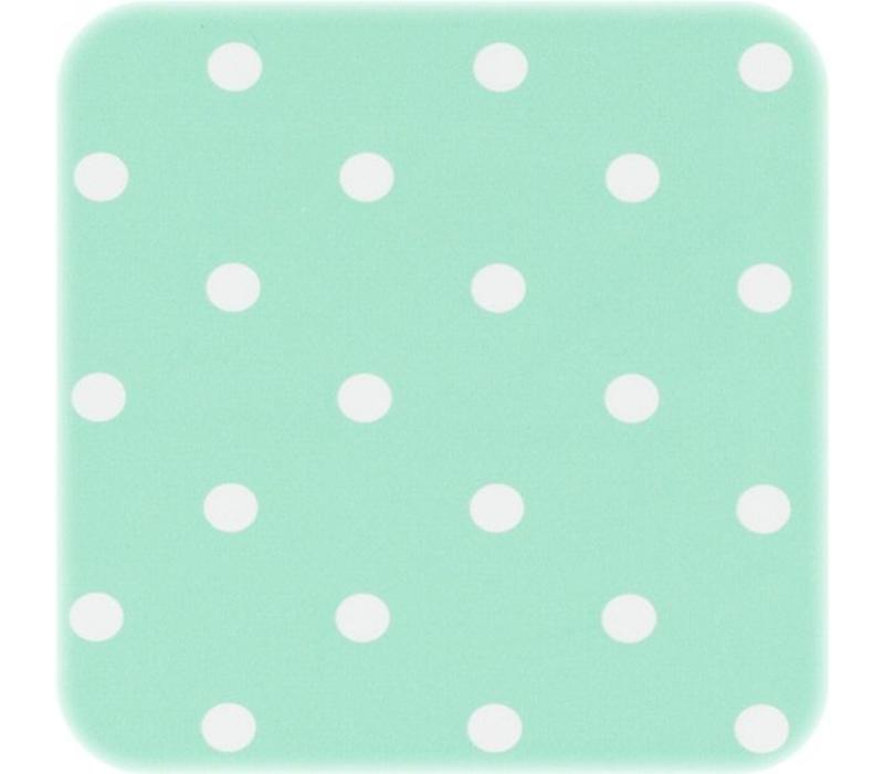 Tafelzeil Stippen Vierkant - 140 x 140 cm - Mintgroen/Wit