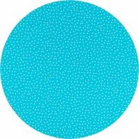 Tafelzeil Rond - Ø 140 cm - Stipjes - Blauw/Wit