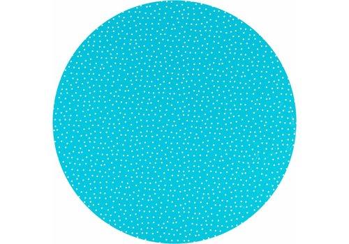 MixMamas Tafelzeil Rond - Ø 140 cm - Stipjes - Blauw/Wit
