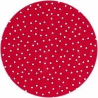 Tafelzeil Rond - Ø 140 cm - Stipjes - Rood/Wit
