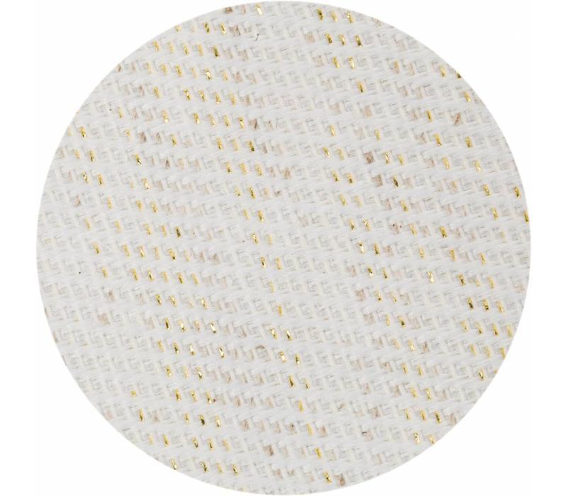Rond Tafelkleed Gecoat - Ø 180 cm Linnen - Crème/Goud