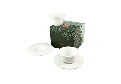 Cookplay Cookplay Fly Koffieset  2-delig Porselein 125 ml Wit