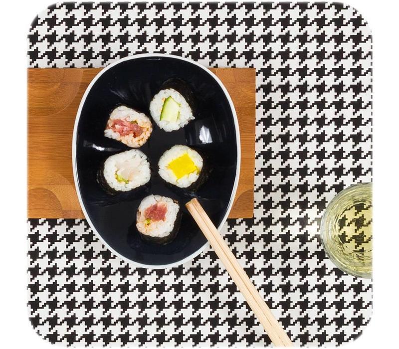 Cookplay Jomon Small Schaaltje - Porselein - 14 x 11 x 4 cm - Zwart/Wit