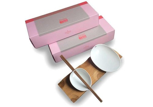 Cookplay Cookplay Jomon Sushi set - Porselein - 29 x 11 x 4 cm - Wit