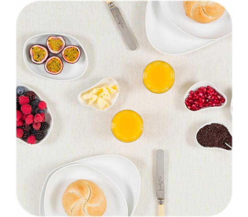 Cookplay Yayoi Appetizer - Schaaltjes- 6-delig - Porselein - 10 x 6 cm - Wit
