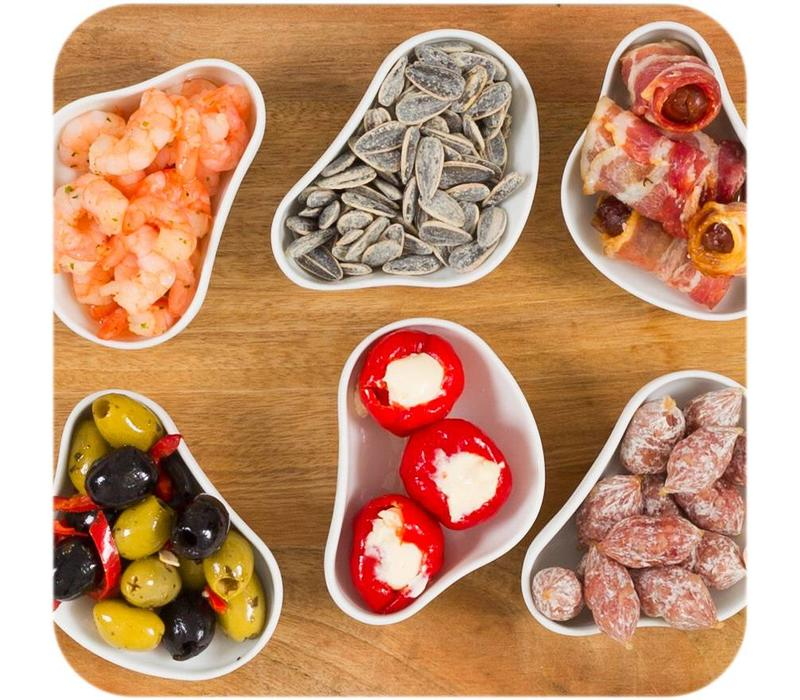 Cookplay Yayoi Appetizer - Schaaltjes- 6-delig - Mat Porselein - 10 x 6 cm - Wit