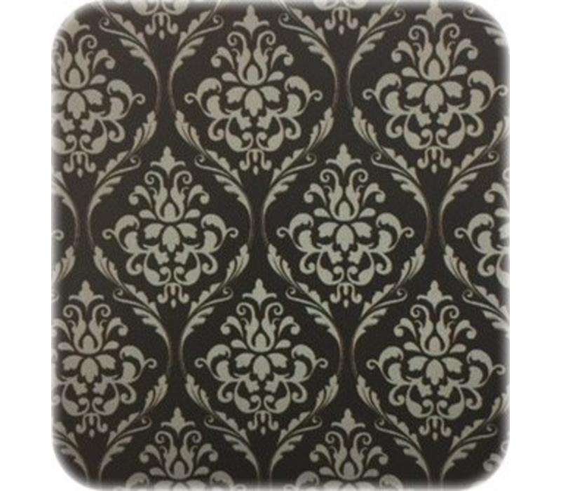 Tafelzeil Barok - Rol - 140 cm x 20 m - Zwart/Zilver