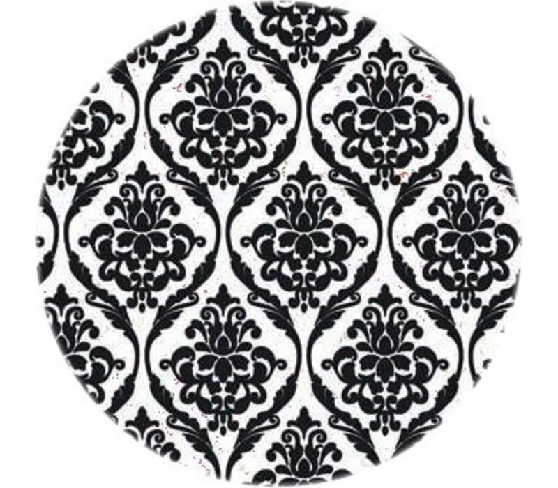 Tafelzeil Rond - Ø 140 cm - Barok - Zwart