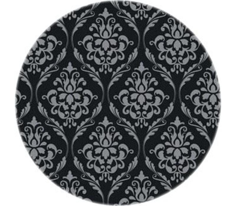 Tafelzeil Rond - Ø 140 cm - Barok - Zwart/Zilver