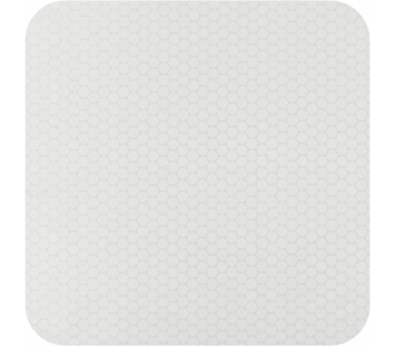 Tafelkleed Gecoat Jacquard Stippen - 140 x 250 cm - Wit