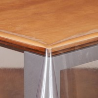 Transparant Tafelzeil Rond - Ø 160 cm - gevouwen op Rol