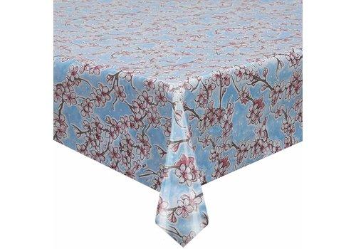MixMamas Tafelzeil Kersenbloesem - 120 x 300 cm - Rol - Lichtblauw