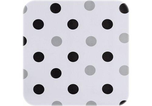 MixMamas Tafelzeil Confetti - 120 x 220 cm - Zwart/Zilver