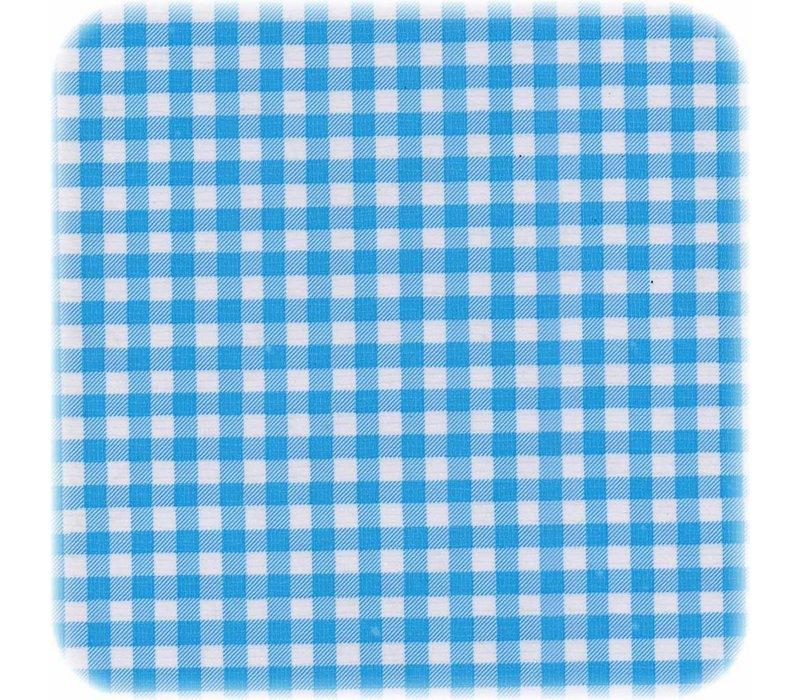Mexicaans Tafelzeil Ruitje - 120 x 220 cm - Lichtblauw