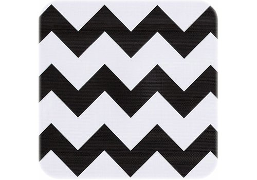 MixMamas Tafelzeil Zigzag - 120 x 220 cm - Zwart