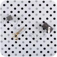 Mexicaans Tafelzeil Stippen Confetti -120 x 180 cm - Zwart/Zilver