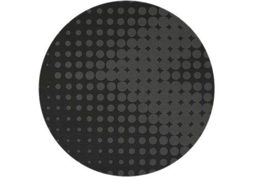 MixMamas Rond Tafelkleed Gecoat - Ø 180 cm - Hippe Stippen - Zwart