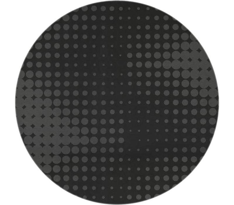 Rond Tafelkleed Gecoat - Ø 180 cm - Hippe Stippen - Zwart
