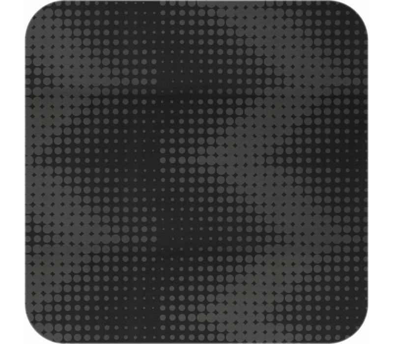 Tafelkleed Gecoat - 140 x 300 cm - Hippe Stippen - Zwart -ton-sur-ton