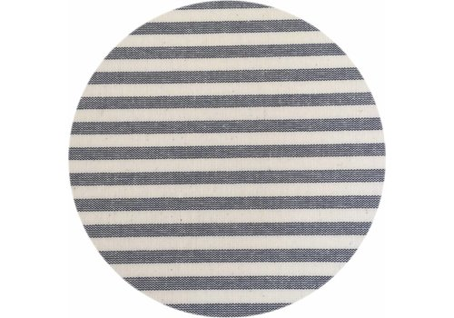 MixMamas Rond Tafelkleed Gecoat - Ø 160 cm - Strepen- Marineblauw
