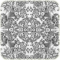 Mexicaans Tafelzeil Paraïso / Barok - 120 x 250 cm - Zwart/Wit