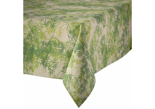 MixMamas Tafelkleed Gecoat Tropical Green - 150 x 250 cm
