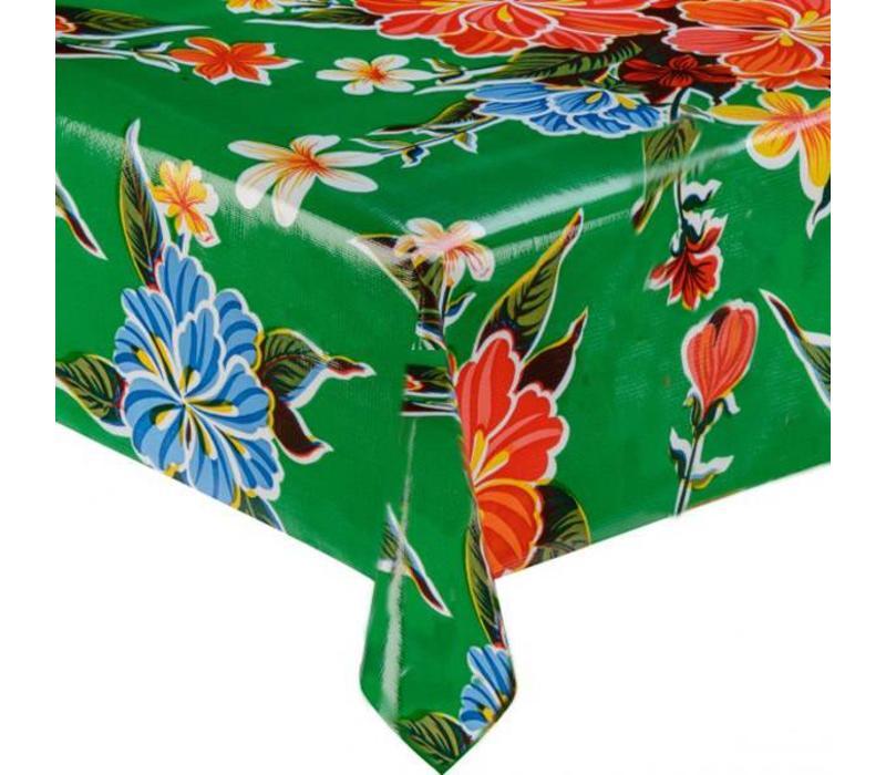 Mexicaans Tafelzeil Fortin Hibiscus - 120 x 180 cm - Groen
