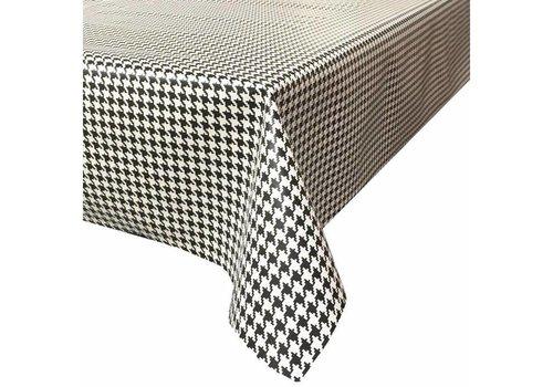MixMamas Tafelzeil Pied de Poule - 120 cm x 200 cm - Zwart