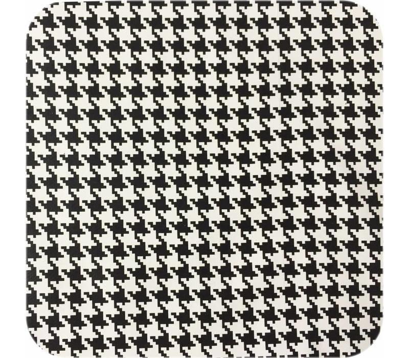 Tafelzeil Pied de Poule - 120 cm x 200 cm - Zwart