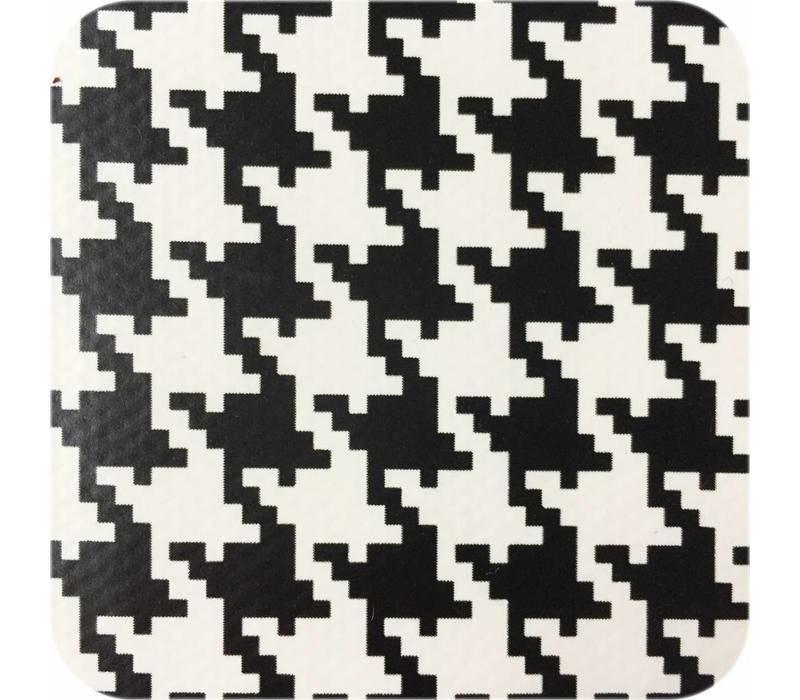 MixMamas - Tafelzeil Pied de Poule - 120 cm x 300 cm - Zwart