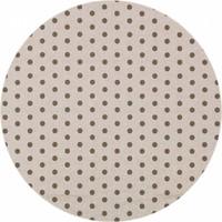 Rond Tafelkleed Gecoat - Ø 160 cm - Stippen - Beige/Chocolade