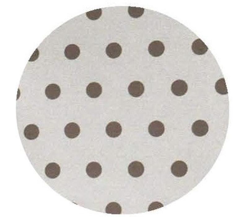 Rond Tafelkleed Gecoat - Ø 180 cm - Stippen - Beige/Chocolade