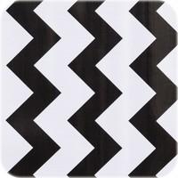 Mexicaans Tafelzeil Zigzag - 120 x 300 cm - Zwart