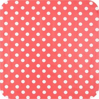 Tafelzeil Grote Stip - 140 x 250 cm - Rood/Wit