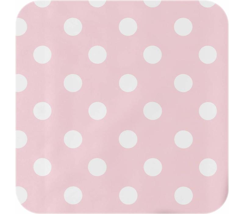Tafelzeil Grote Stip - 140 x 200 cm - Roze/Wit