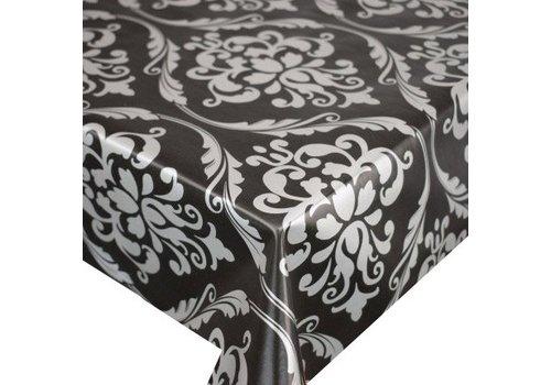 MixMamas Tafelzeil Barok - 140 x 250 cm - Zwart/Zilver