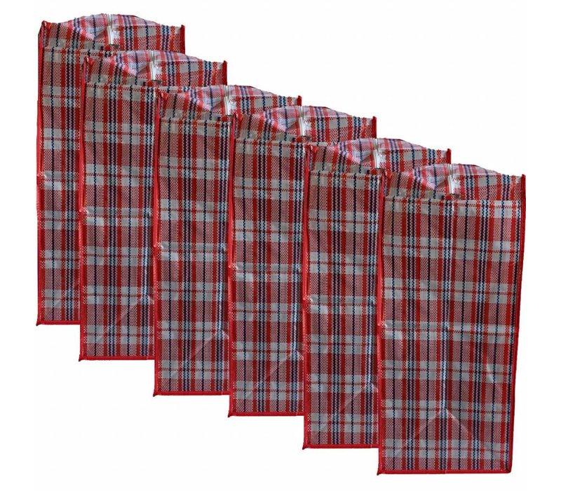 Big Shopper Boodschappentas - 60 x 50 cm - Multipack 6 stuks - Rood